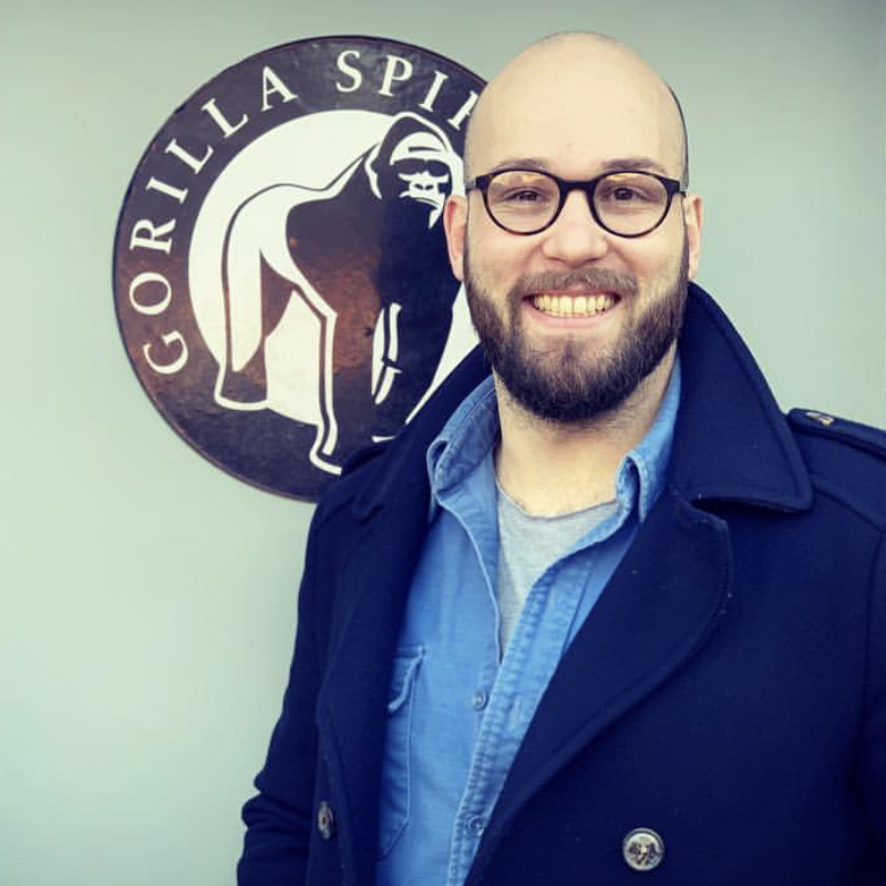 Gorilla distillery crew team member Spike Van de Merwe cocktail mixologist - Gorilla Spirits Co.