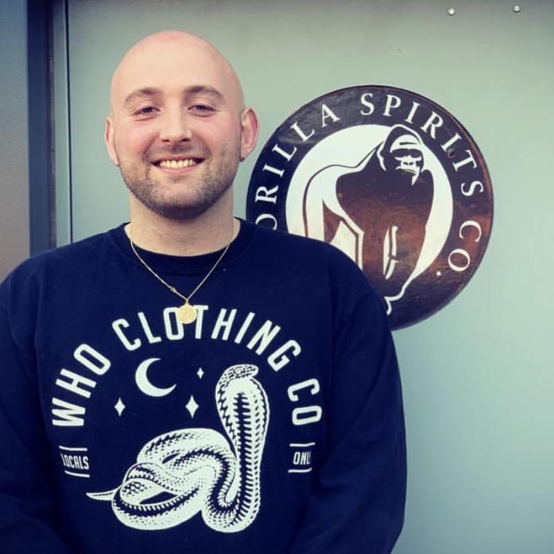 Gorilla distillery crew team member Jamie Daniels - Gorilla Spirits Co.